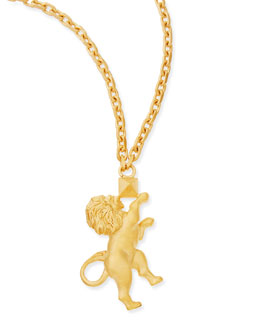 "Valentino Golden Leo Zodiac Necklace, 36""L"
