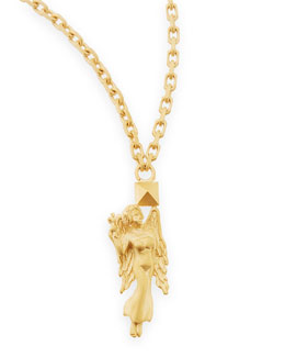 "Valentino Golden Virgo Zodiac Necklace, 36""L"