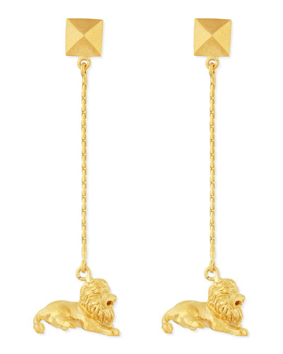 Valentino Golden Leo Zodiac Earrings