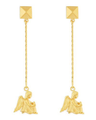 Valentino Golden Virgo Zodiac Earrings