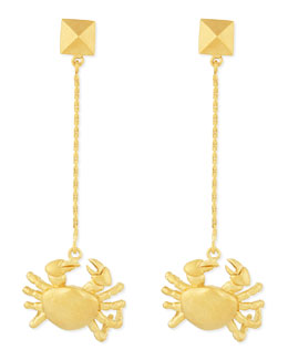 Valentino Golden Cancer Zodiac Earrings