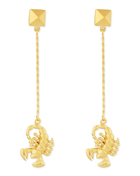 Golden Scorpio Zodiac Earrings