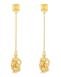 Valentino Golden Aquarius Zodiac Earrings