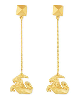 Valentino Golden Capricorn Zodiac Earrings