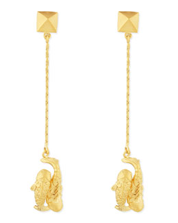 Valentino Golden Pisces Zodiac Earrings