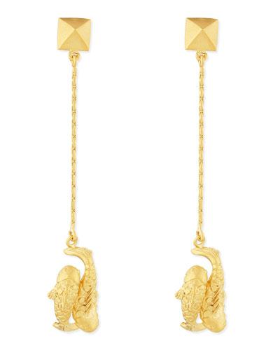 Valentino Golden Pisces Zodiac Earrings