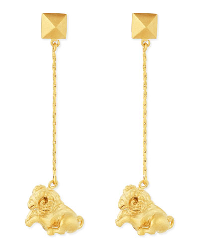 Valentino Golden Aries Zodiac Earrings
