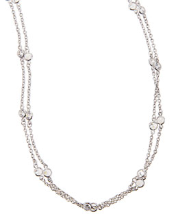 "Fantasia by DeSerio Cubic Zirconia By-the-Yard Necklace, 72""L"
