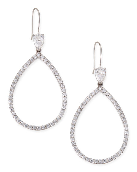 Fantasia by DeSerio Open Pave Cubic Zirconia Pear