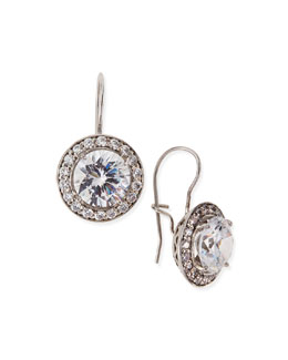 Fantasia by DeSerio Antique-Inspired Round Cubic Zirconia Earrings