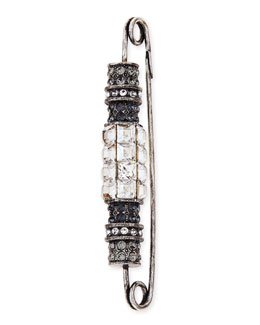 Lanvin Crystal Bar Brooch