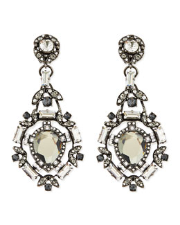 Lanvin Clear Crystal Clip-On Chandelier Earrings