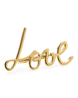 Lanvin Two-Finger Golden Love Ring