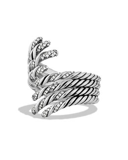 David Yurman Willow Open Four-Row Ring with Diamonds