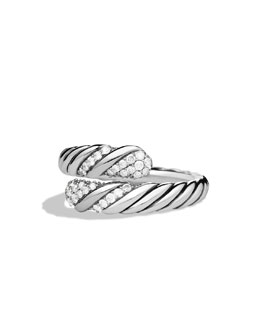 David Yurman Willow Open Single-Row Ring with Diamonds