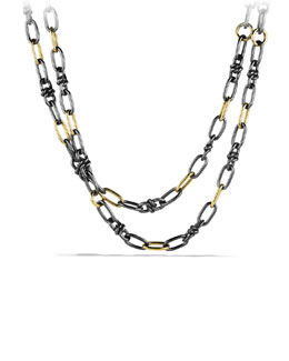 David Yurman Black & Gold Link Necklace