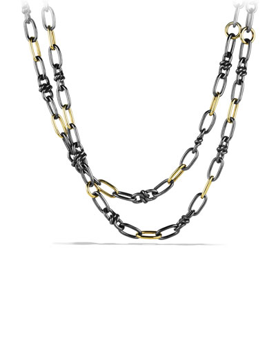 David Yurman Black & Gold Link Necklace