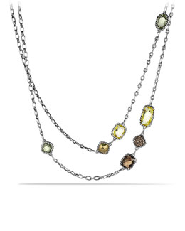 David Yurman Chatelaine Necklace with Lemon Citrine, Cognac Diamonds, and Gold