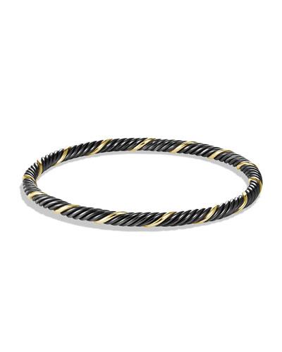 David Yurman Black & Gold Cable Bangle