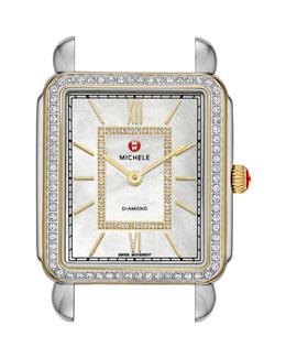 MICHELE Deco II Two-Tone Diamond Watch Head