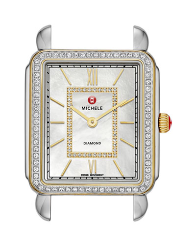 MICHELE Deco II Two-Tone Diamond Watch Head