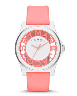 MARC by Marc Jacobs Henry Skeleton Watch, Pink