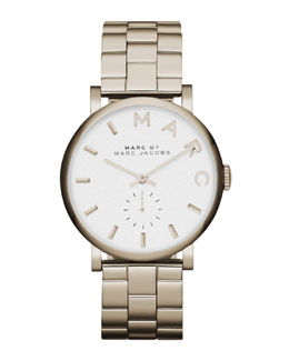 MARC by Marc Jacobs Baker Golden Analog Watch with Bracelet