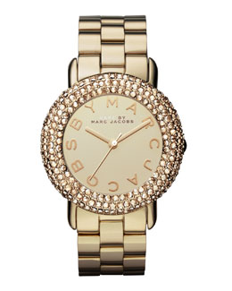 MARC by Marc Jacobs Marci Pave Crystal Golden Watch
