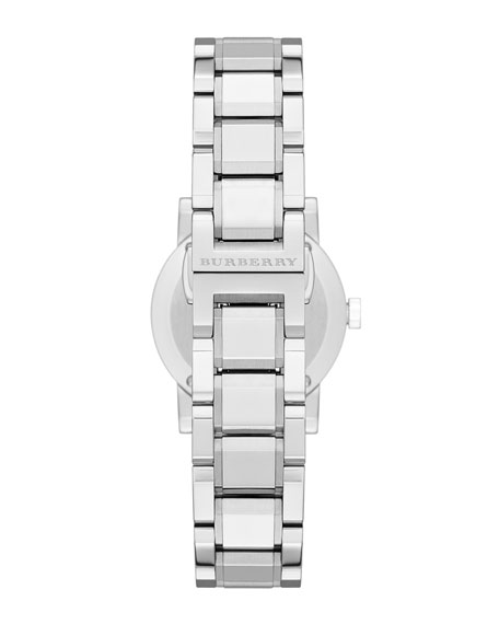 26mm Round Stainless Steel Tonal Dial Watch with Diamonds