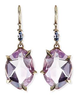 Alexis Bittar Fine Cool Heather Marquise Amethyst Drop Earrings