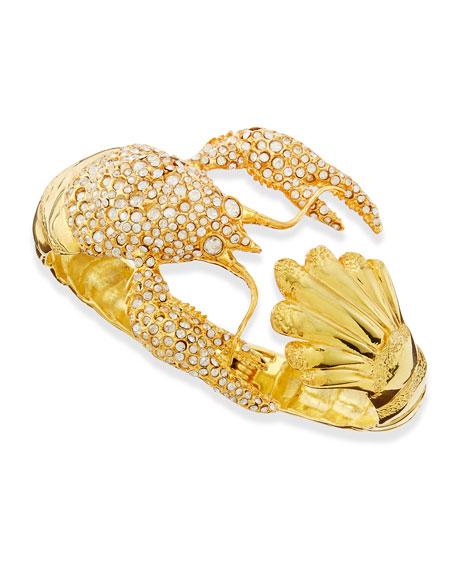 Pave Crystal Lobster Hinge Bracelet