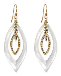 Alexis Bittar Jardin Mystere Lucite & Crystal Earrings