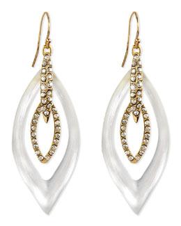 Alexis Bittar Jardin Mystere Lucite & Crystal Earrings