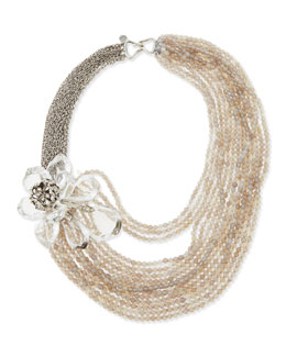 Alexis Bittar Jardin Mystere Corsage Torsade Necklace