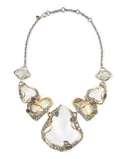 Alexis Bittar Jardin Mystere Large Vine-Draped Doublet Bib Necklace