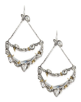 Alexis Bittar Jardin Mystere Suspended Crescent Earrings with Jagged Crystals