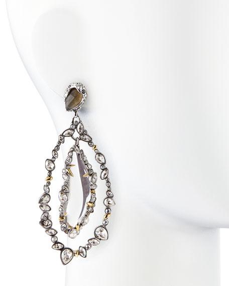 Jardin Mystere Jagged Crystal Frame Orbit Earrings