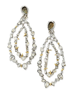 Alexis Bittar Jardin Mystere Jagged Crystal Frame Orbit Earrings