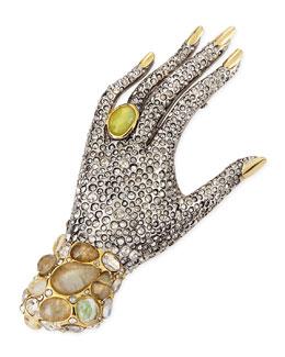 Alexis Bittar Jardin Mystere Crystal Hand Pin Brooch