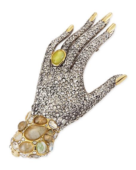 Jardin Mystere Crystal Hand Pin Brooch