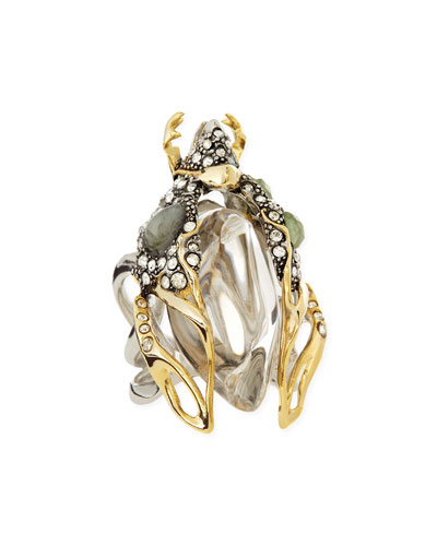 Alexis Bittar Jardin Mystere Beetle Cocktail Ring