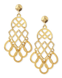 Tory Burch 16k Gold-Plated Lace Earrings