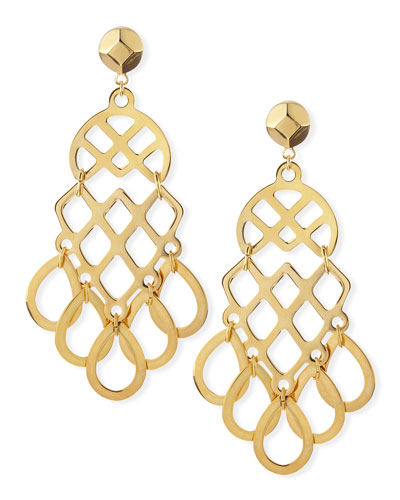 16k Gold-Plated Lace Earrings