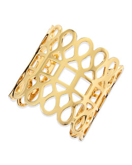 Tory Burch 16k Gold-Plated Lace Cuff