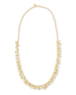 Tory Burch Katie Cluster Rosary Necklace, 34""