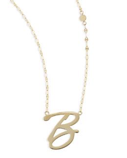 Lana 14k Gold Initial Letter Necklace, B