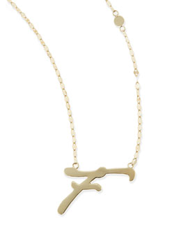 Lana 14k Gold Initial Letter Necklace, F
