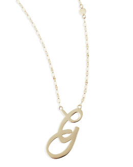 Lana 14k Gold Initial Letter Necklace, G