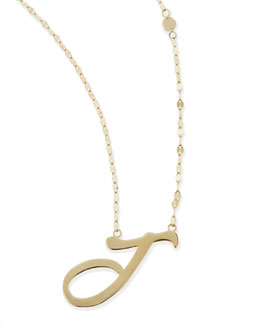 Lana 14KT GOLD LETTER NECKLACE, J