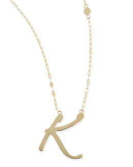Lana 14k Gold Initial Letter Necklace, K